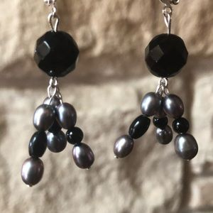 Onyx Fireworks Earrings